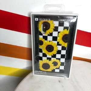 NEW Recover sunflower checkered iPhone X XS case